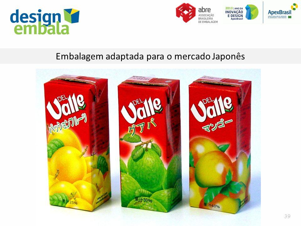 Embalagem adaptada para o mercado Japonês