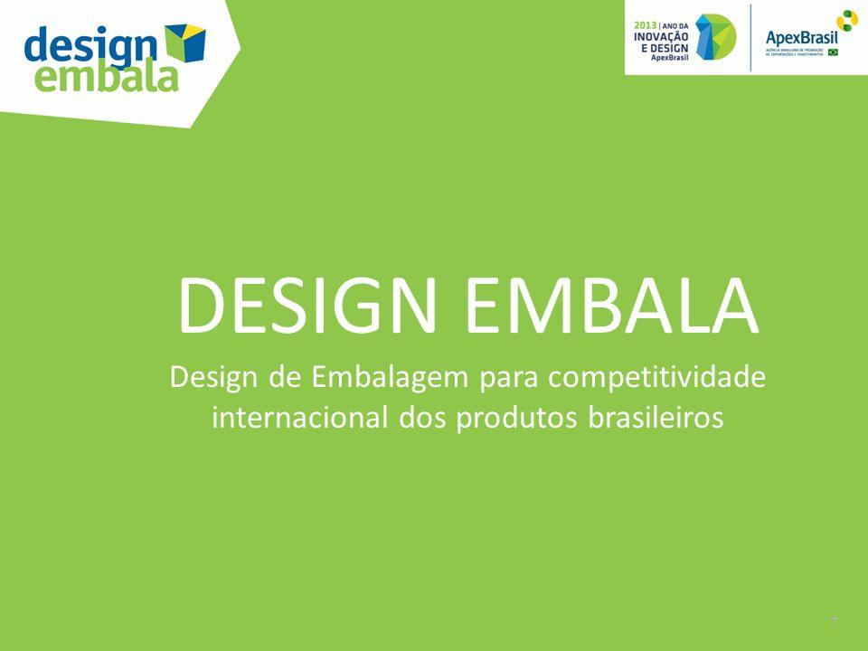 DESIGN EMBALA Design de Embalagem para competitividade internacional dos produtos brasileiros