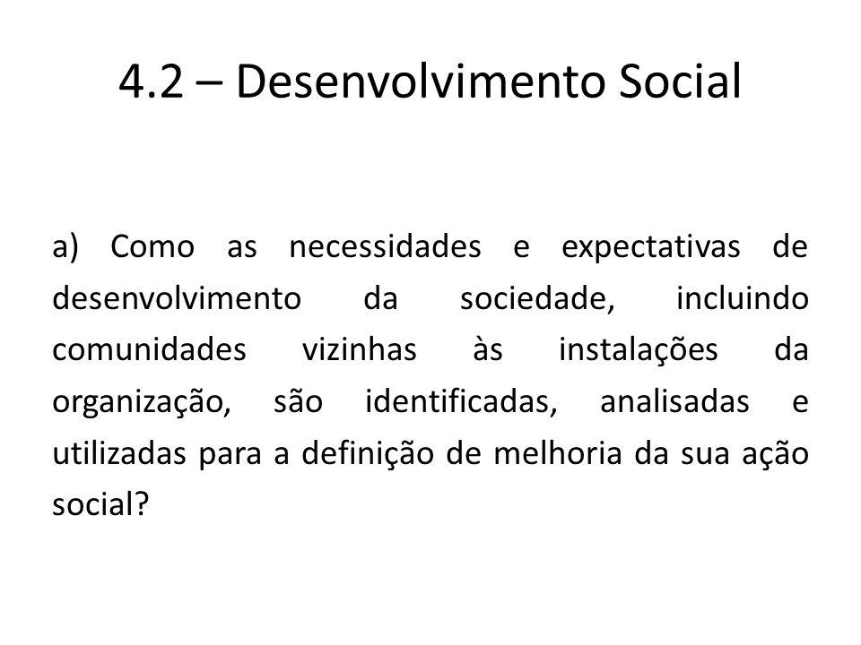 4.2 – Desenvolvimento Social