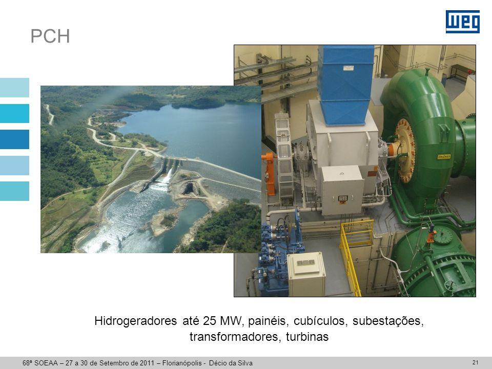 Eólica Aerogeradores até 2,5 MW, subestações, interconexões