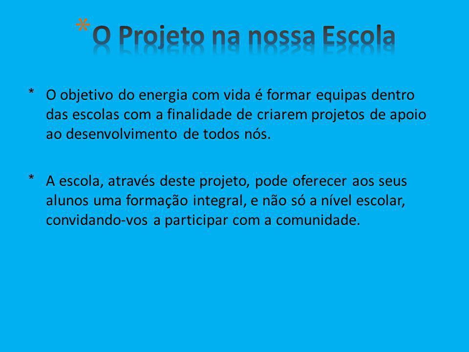 O Projeto na nossa Escola