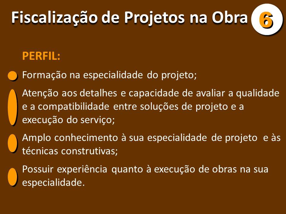 6 Fiscalização de Projetos na Obra PERFIL: