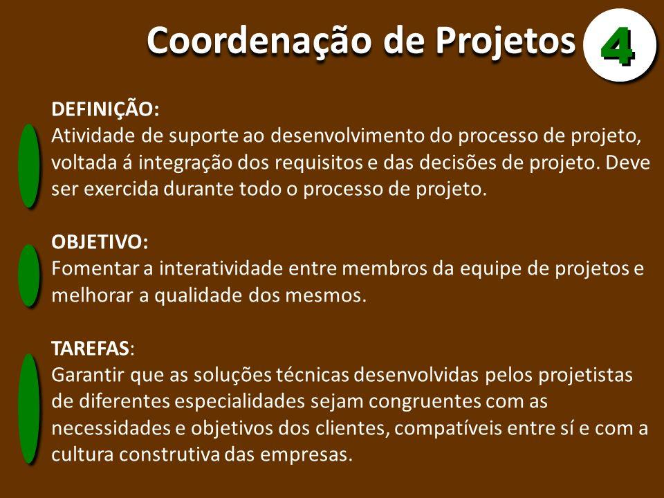 4 Coordenação de Projetos DEFINIÇÃO: