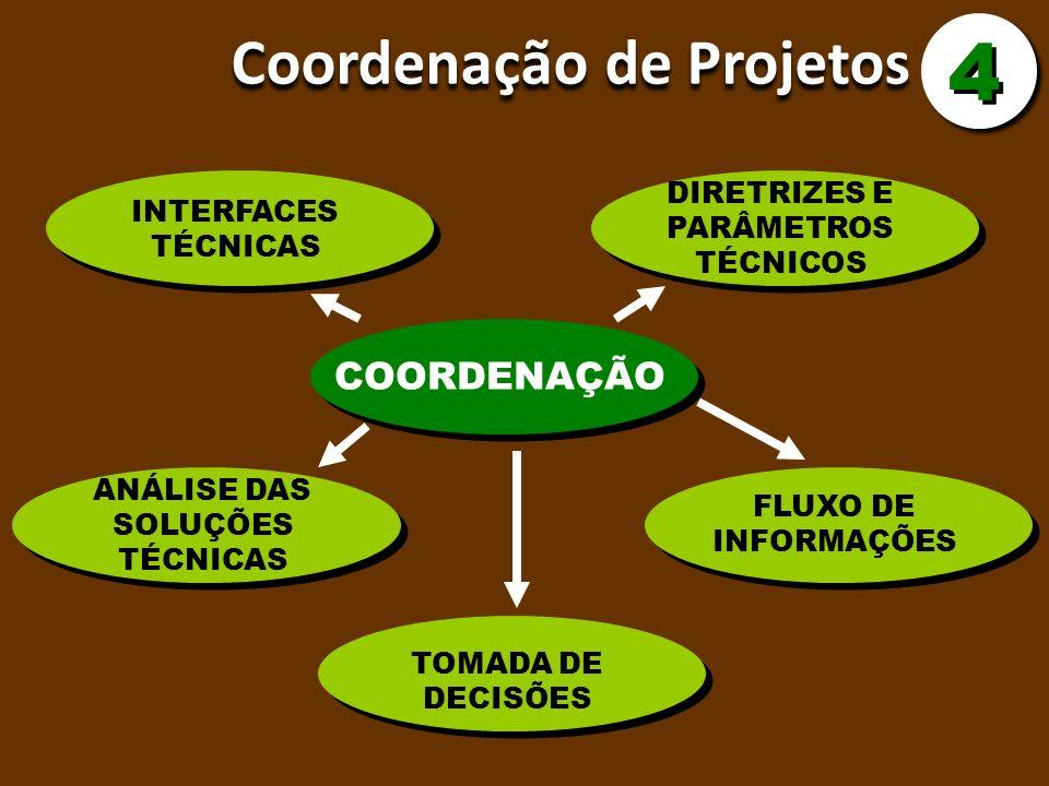 4 Coordenação de Projetos COORDENAÇÃO DIRETRIZES E PARÂMETROS TÉCNICOS