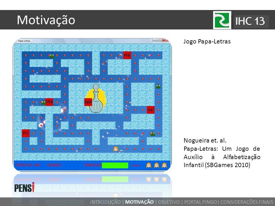 Motivação Jogo Papa-Letras Nogueira et. al.