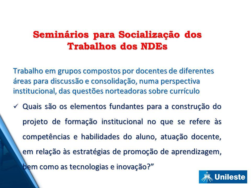Seminários para Socialização dos Trabalhos dos NDEs