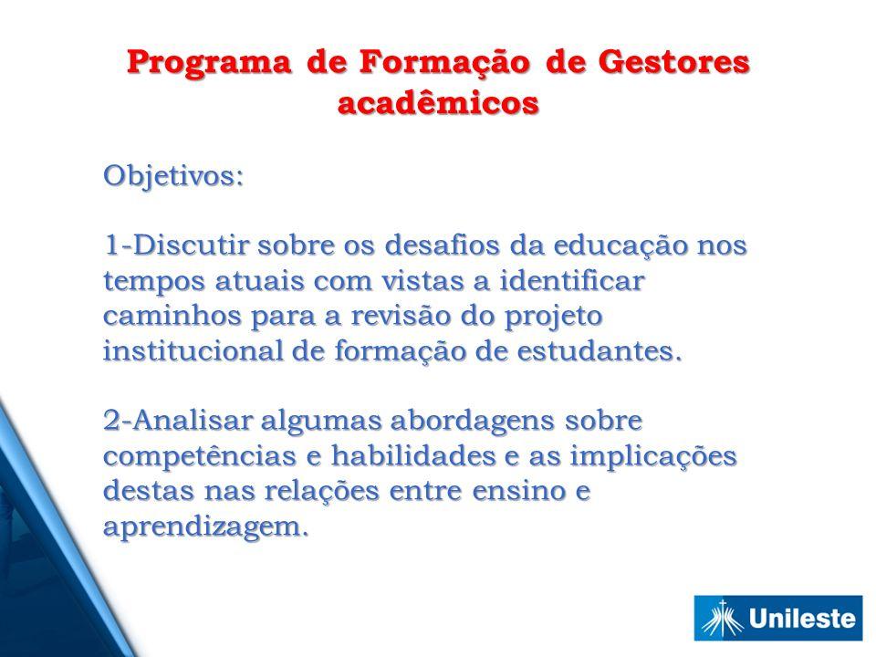 Programa de Formação de Gestores acadêmicos