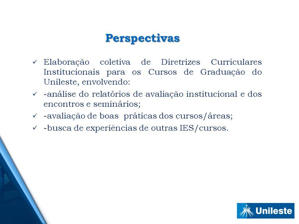 Perspectivas Elaboração coletiva de Diretrizes Curriculares Institucionais para os Cursos de Graduação do Unileste, envolvendo: