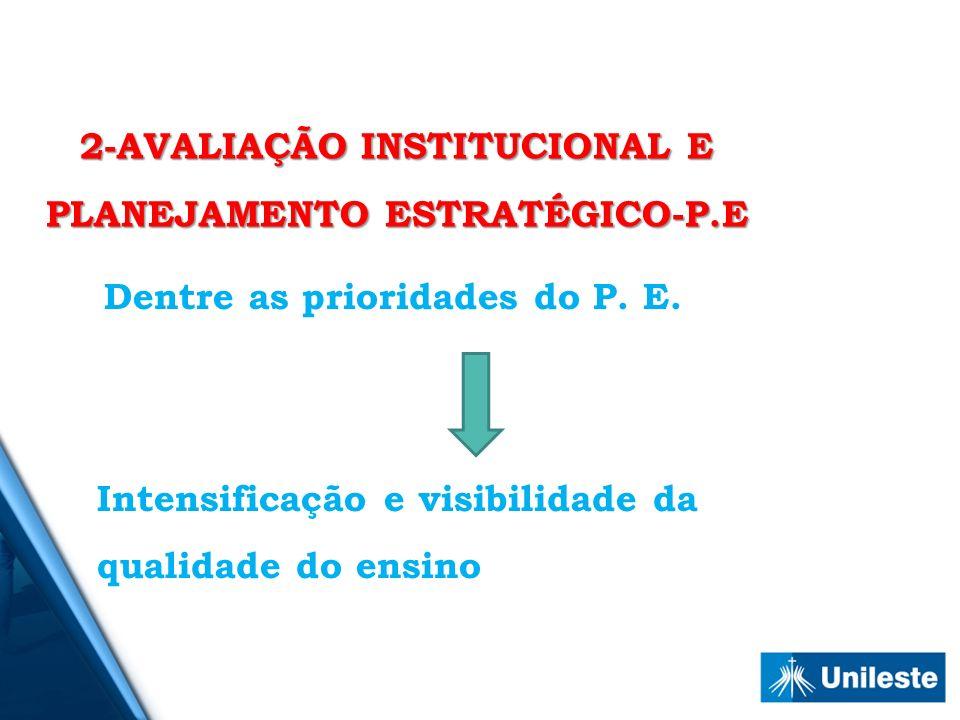 2-AVALIAÇÃO INSTITUCIONAL E PLANEJAMENTO ESTRATÉGICO-P.E
