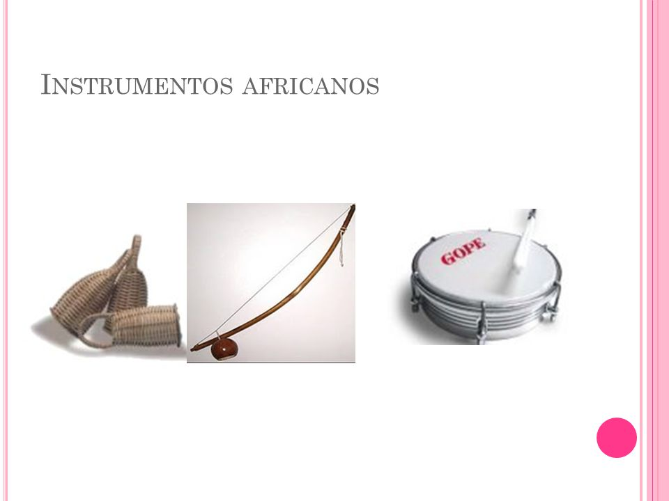 Instrumentos africanos