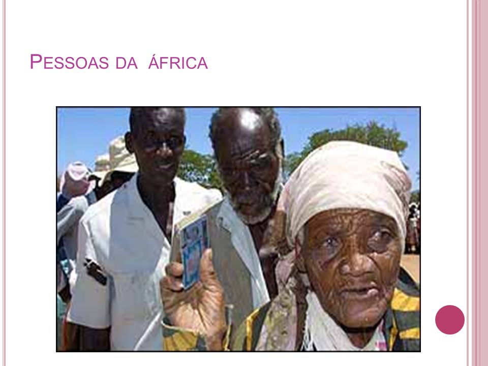 Pessoas da áfrica