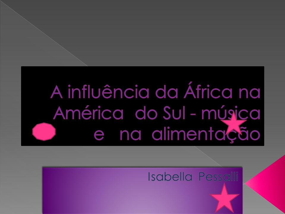 A influência da África na América do Sul - música e na alimentação