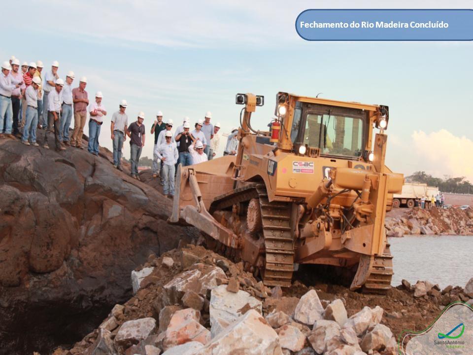 Fechamento do Rio Madeira Concluído