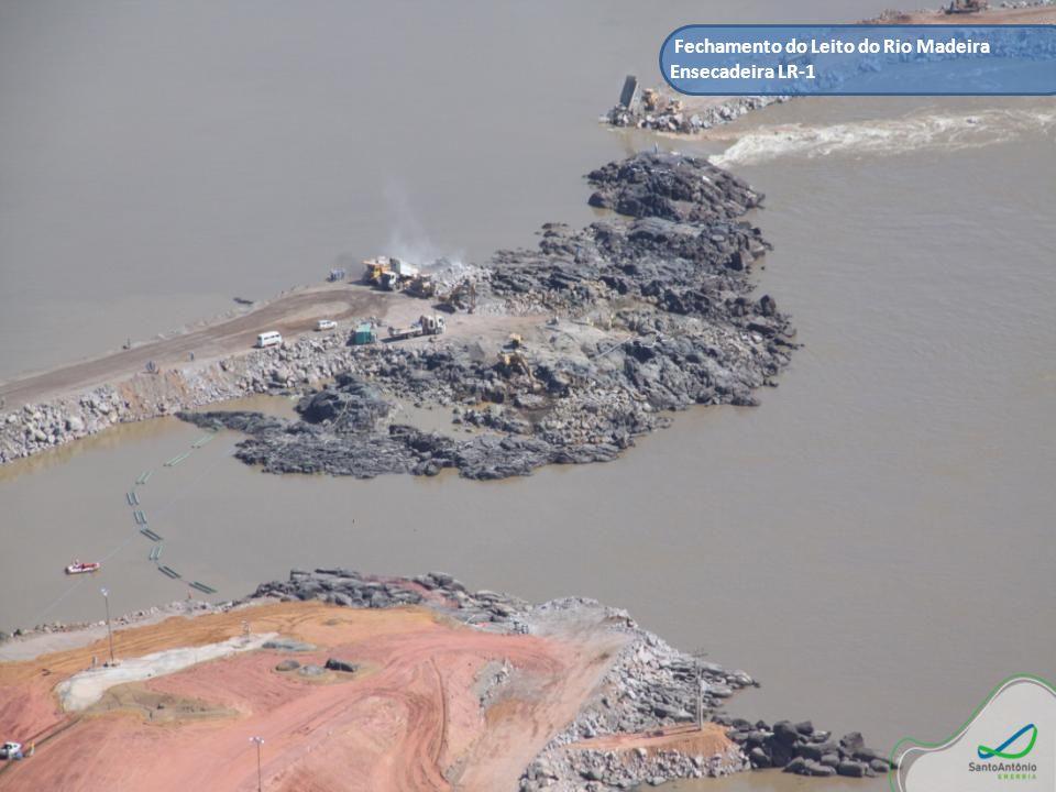 Fechamento do Leito do Rio Madeira Ensecadeira LR-1