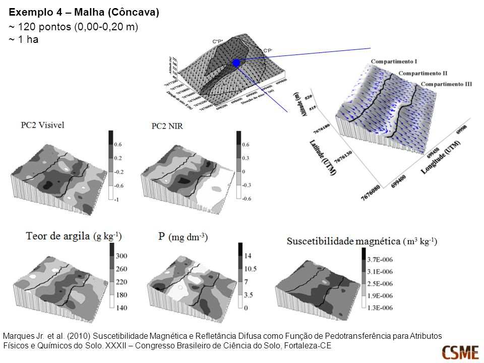 Exemplo 4 – Malha (Côncava) ~ 120 pontos (0,00-0,20 m) ~ 1 ha