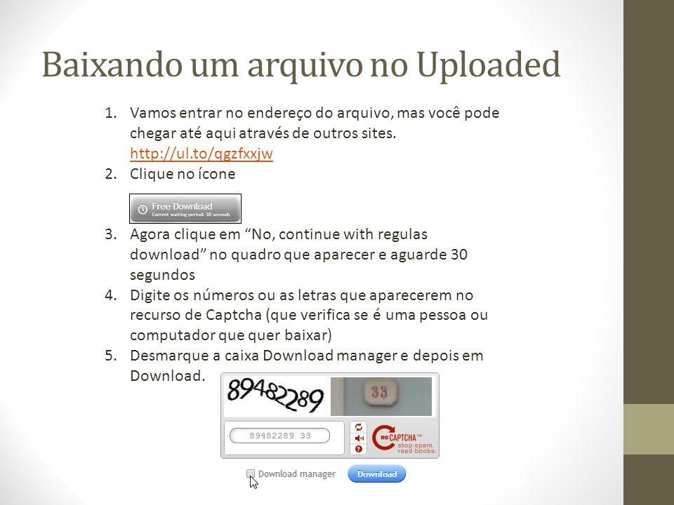 Baixando um arquivo no Uploaded