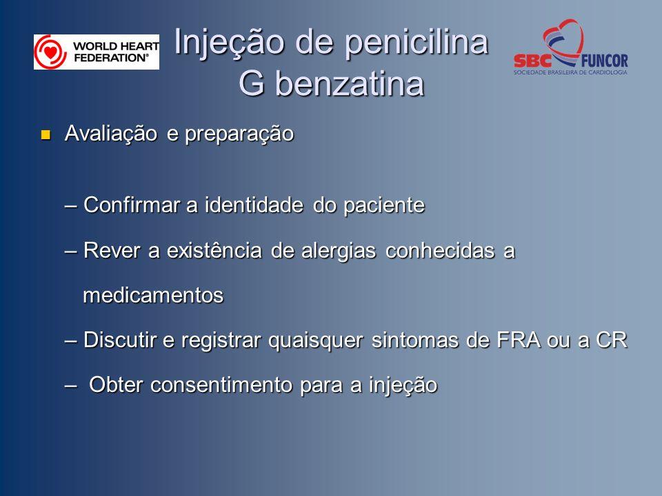 Injeção de penicilina G benzatina