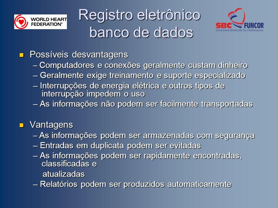Registro eletrônico banco de dados