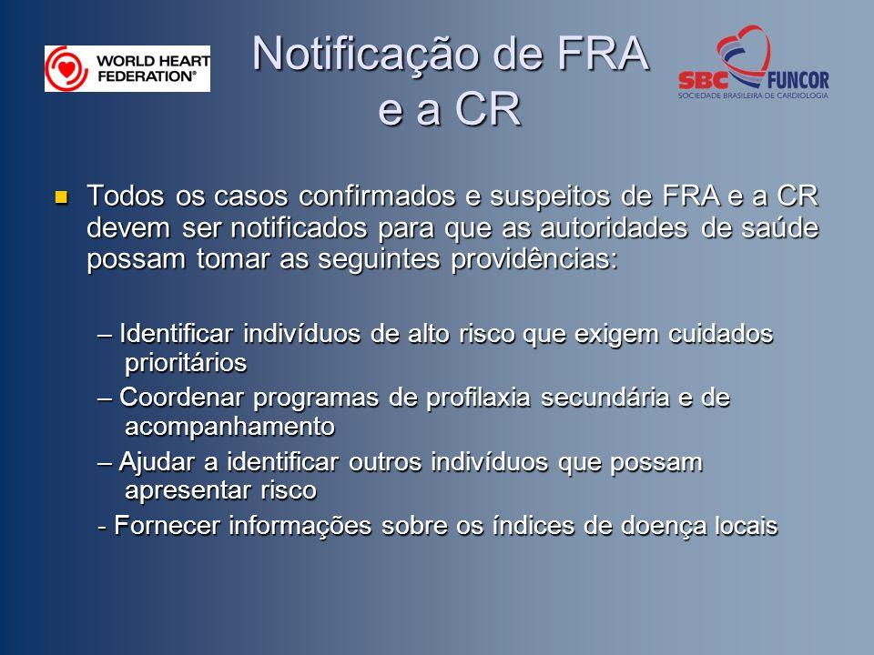 Notificação de FRA e a CR