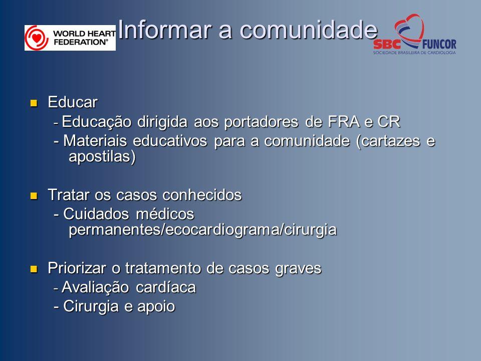 Informar a comunidade Educar
