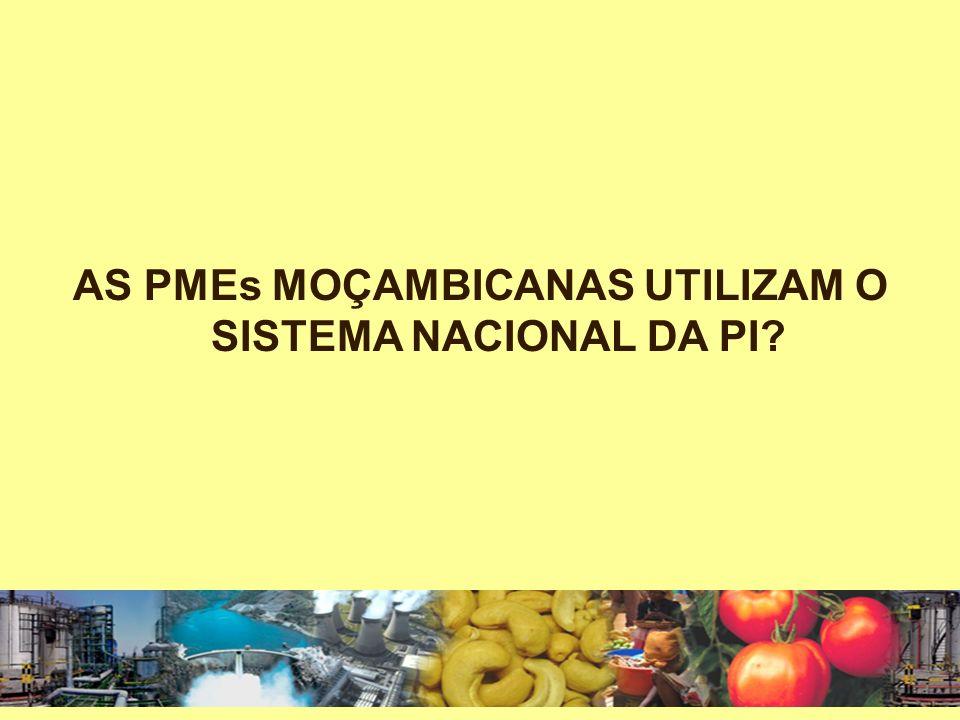 AS PMEs MOÇAMBICANAS UTILIZAM O SISTEMA NACIONAL DA PI