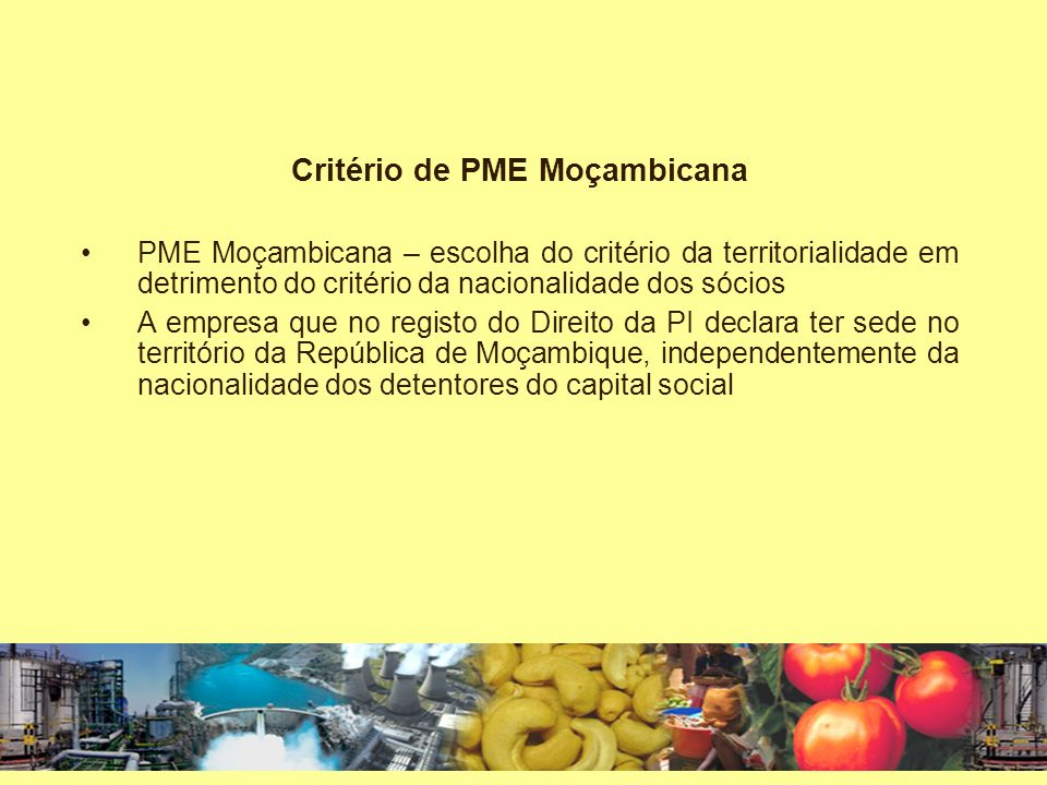 Critério de PME Moçambicana
