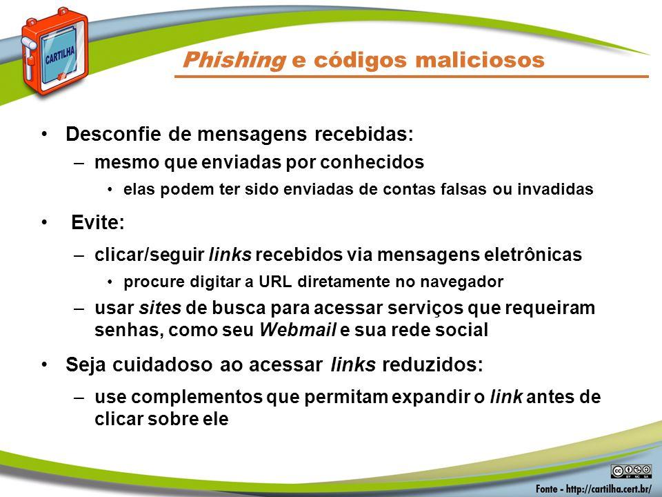Phishing e códigos maliciosos