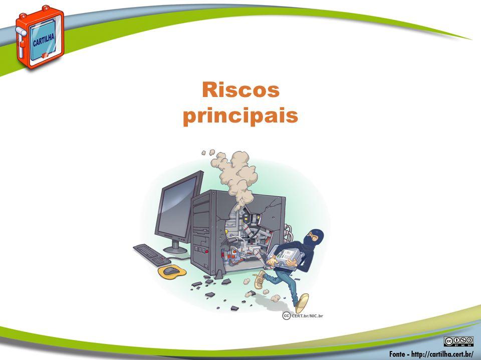 Riscos principais Segurança em Senhas Riscos principais: