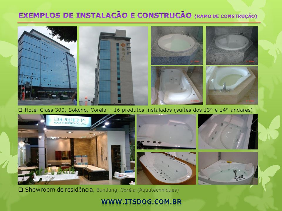 EXEMPLOS DE INSTALAÇÃO E CONSTRUÇÃO (RAMO DE CONSTRUÇÃO)