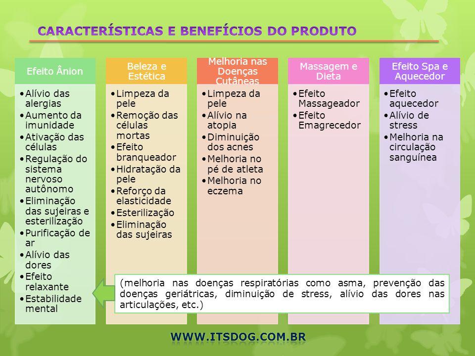 CARACTERÍSTICAS E BENEFÍCIOS DO PRODUTO