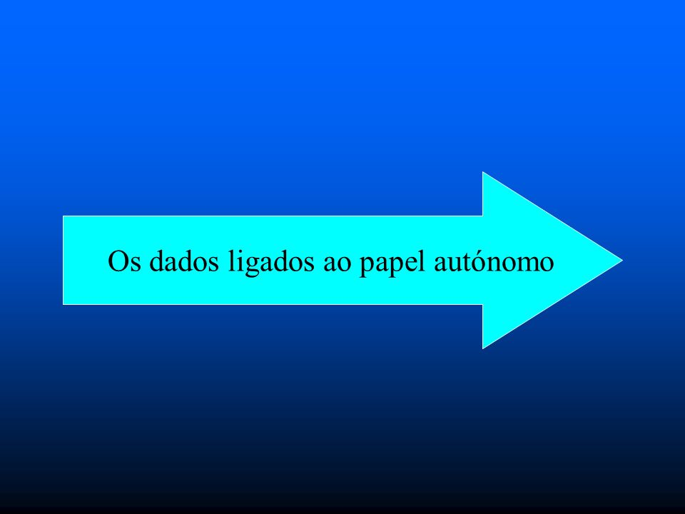 Os dados ligados ao papel autónomo