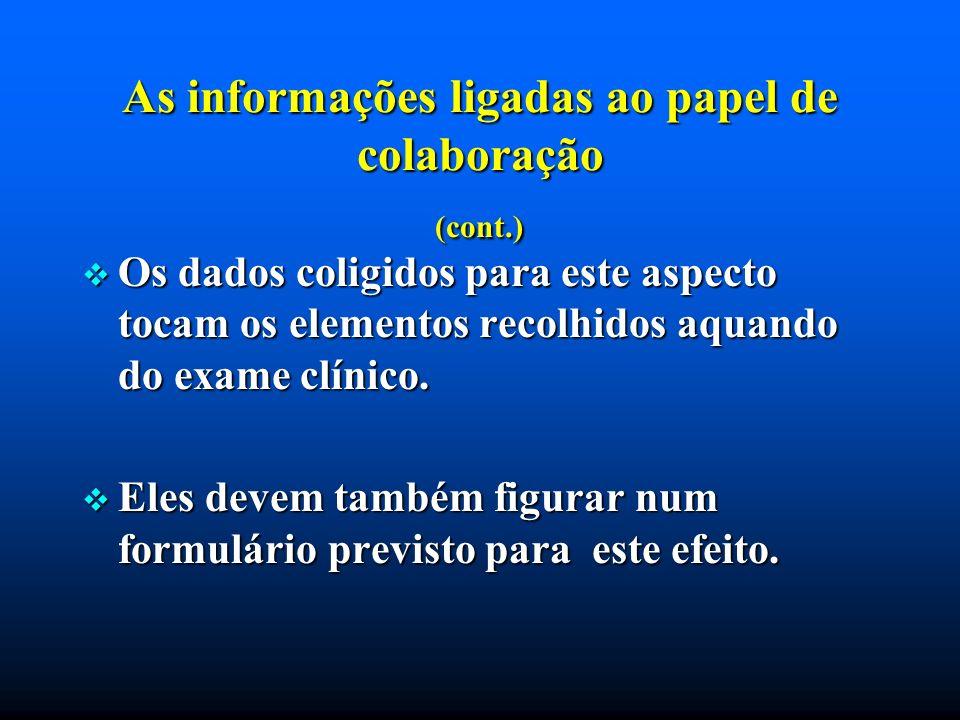 As informações ligadas ao papel de colaboração (cont.)