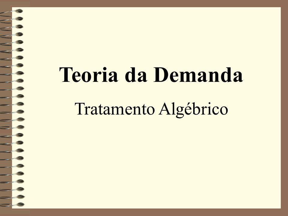 Teoria da Demanda Tratamento Algébrico