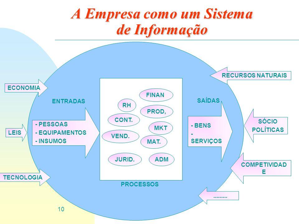 A Empresa como um Sistema de Informação