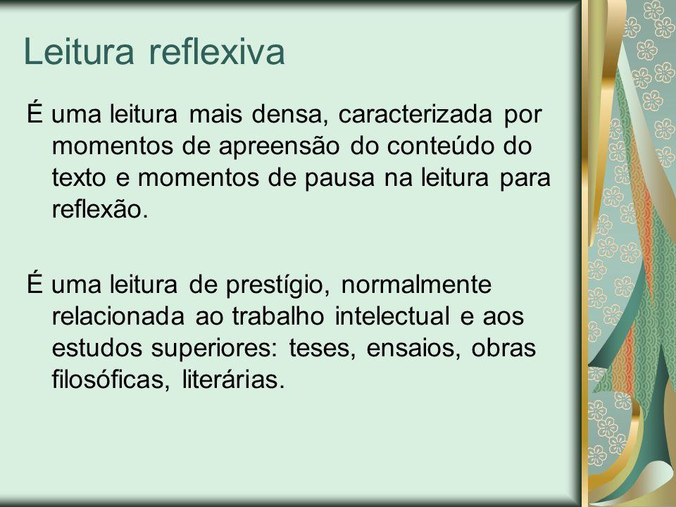Leitura reflexiva