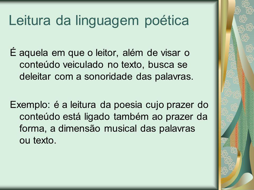 Leitura da linguagem poética