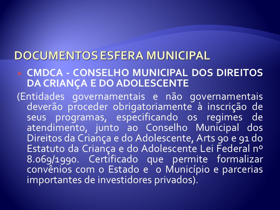 DOCUMENTOS ESFERA MUNICIPAL