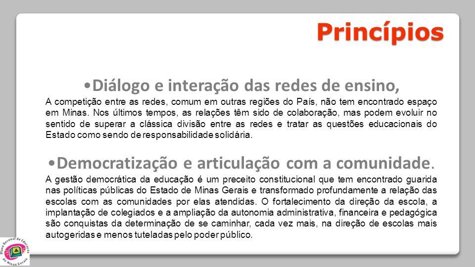 Diálogo e interação das redes de ensino,