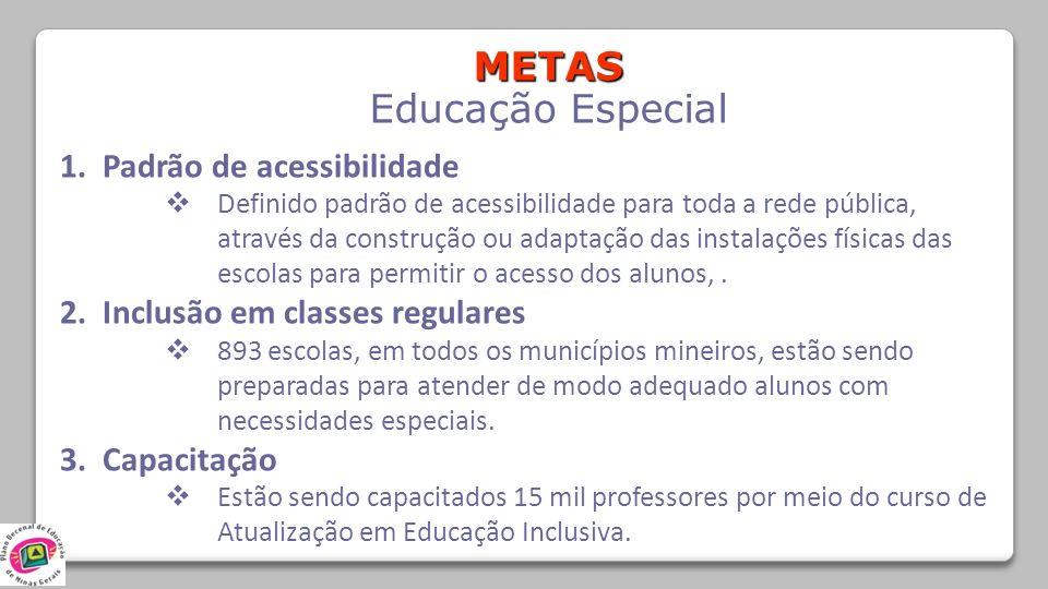 METAS Educação Especial 1. Padrão de acessibilidade