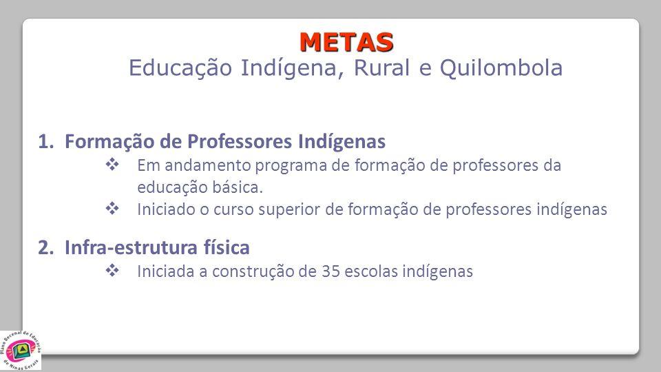 Educação Indígena, Rural e Quilombola