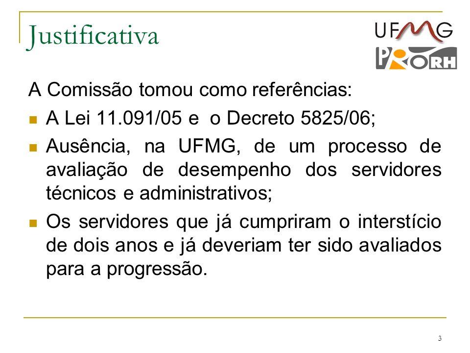 Justificativa A Comissão tomou como referências: