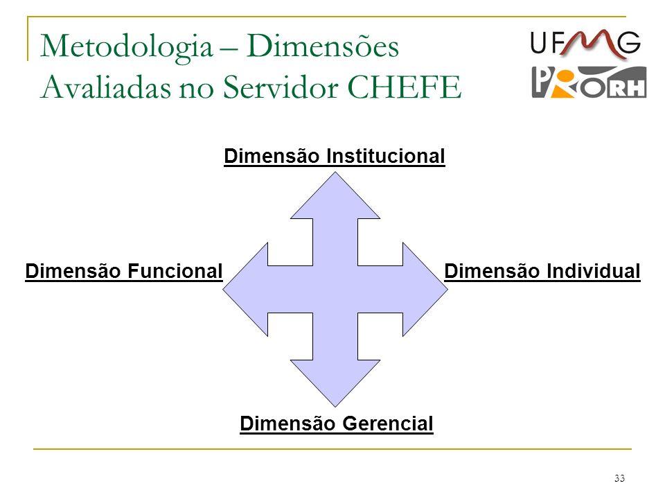 Metodologia – Dimensões Avaliadas no Servidor CHEFE
