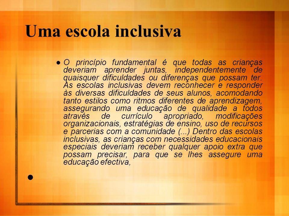 Uma escola inclusiva