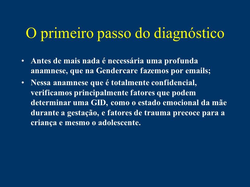 O primeiro passo do diagnóstico