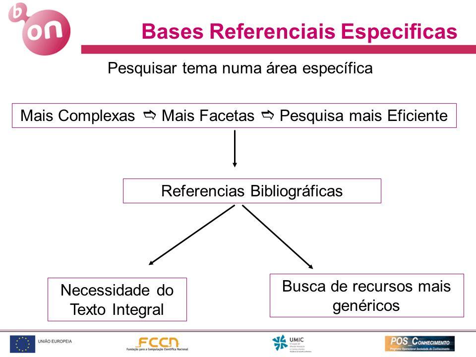 Bases Referenciais Especificas