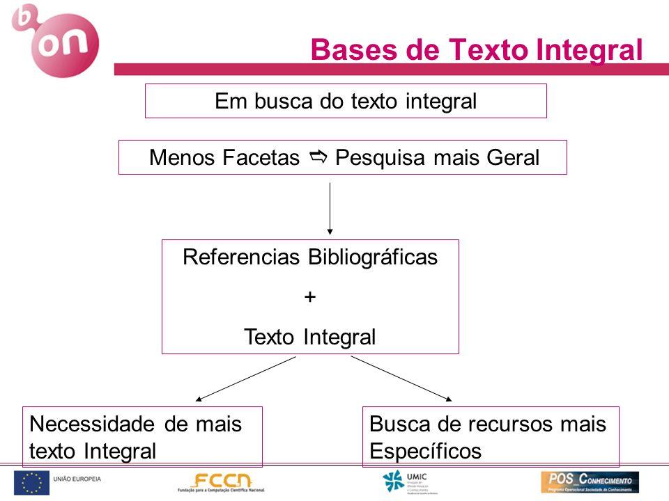 Bases de Texto Integral