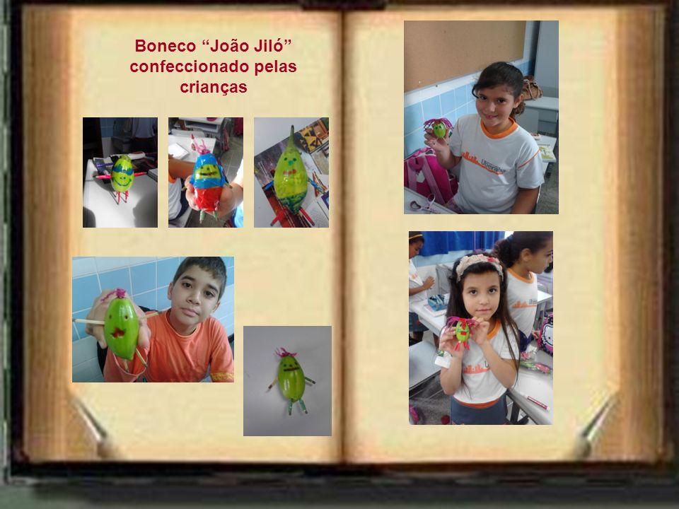 Boneco João Jiló confeccionado pelas crianças