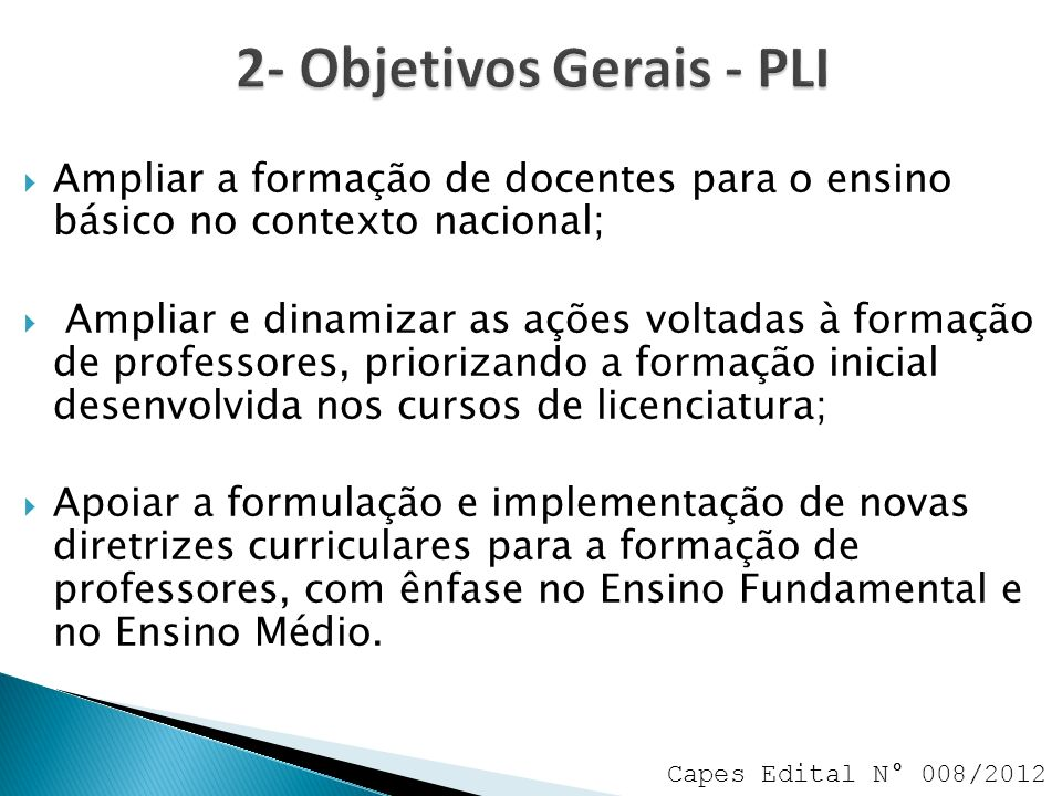 2- Objetivos Gerais - PLI