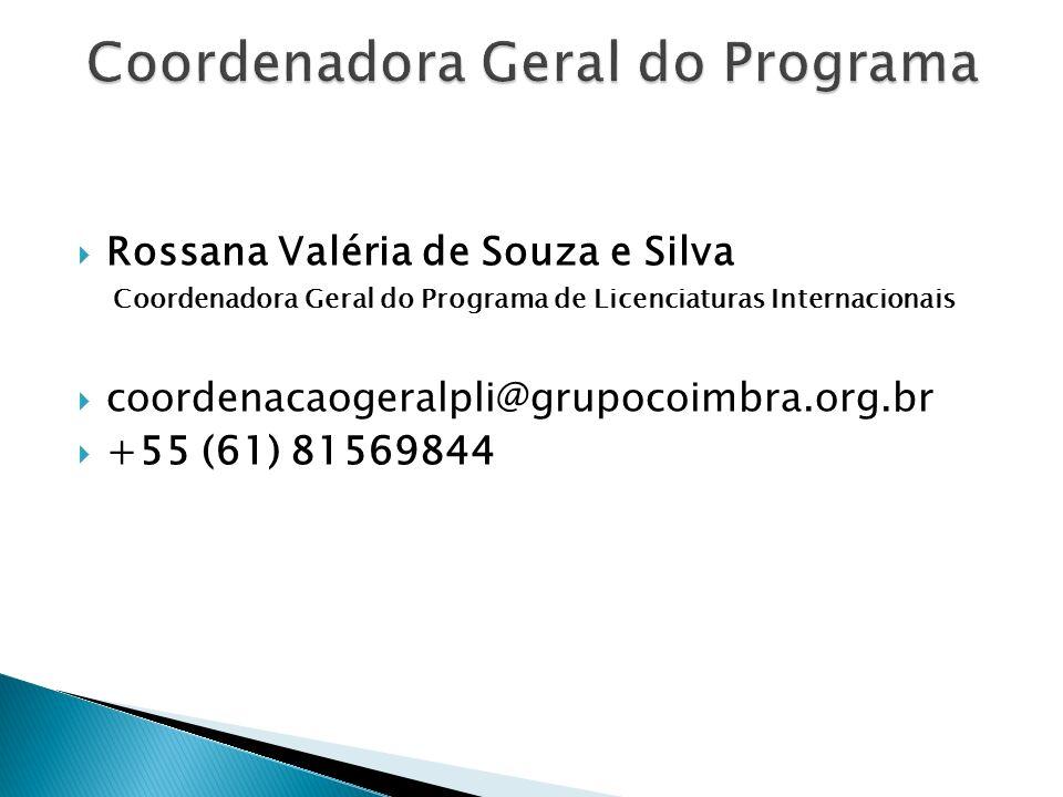 Coordenadora Geral do Programa