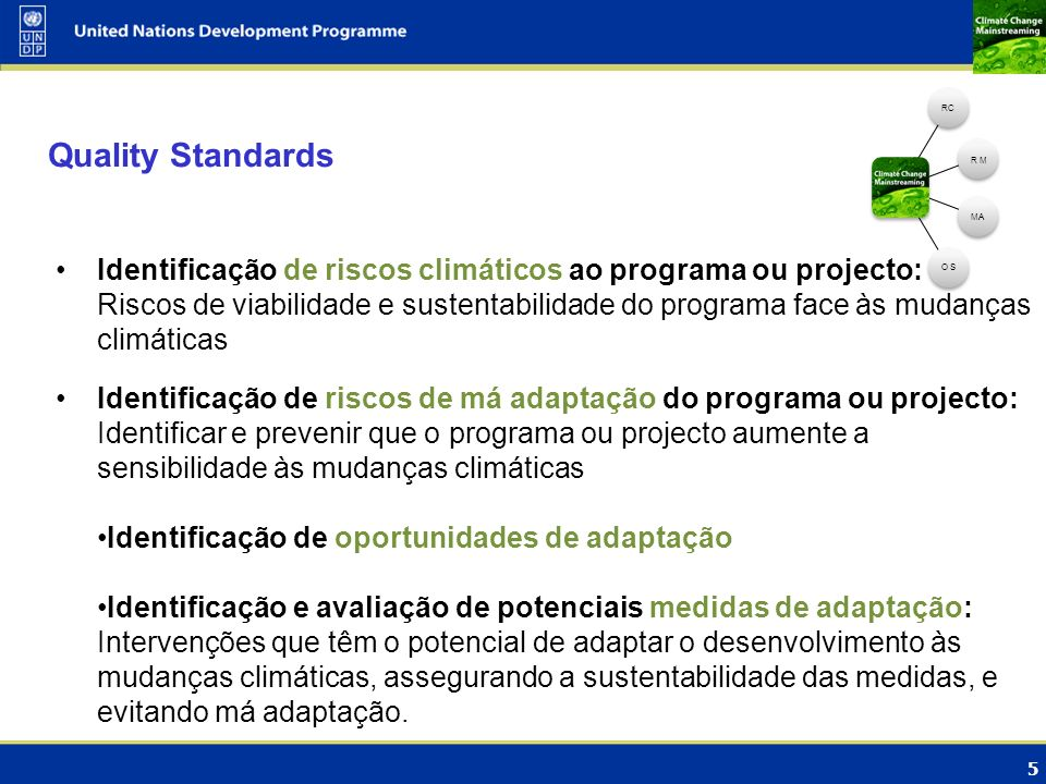 RCR M. MA. O S. Quality Standards.